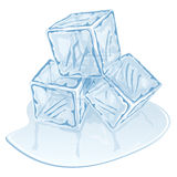Ice cube pile Stock Photos