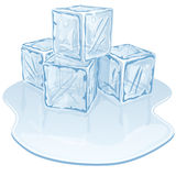 Ice cube pile Stock Photography