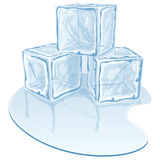 Ice cube pile Royalty Free Stock Photography