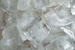 Ice cube in plastic tray Royalty Free Stock Photo