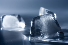 Ice cube pyramids Stock Photo