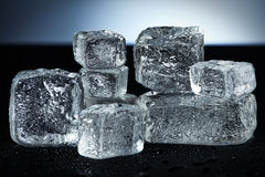 Ice cube rock Stock Images