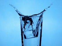 Ice cube splash Royalty Free Stock Photos