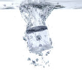 Ice cube Splash in the water Royalty Free Stock Photo