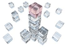 Ice Cube Tower stock photos