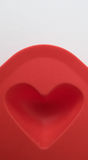 Ice cube tray. Heart-shaped ice tray silicone mold Stock Images
