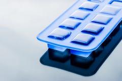 Ice cube tray with ice horizontal Stock Photography