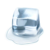 Ice cube vector illustration Royalty Free Stock Photos