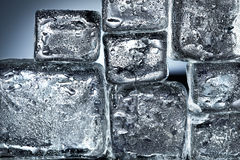Ice cube wall Royalty Free Stock Images