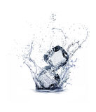 Ice cube. On white background Stock Photography