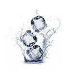 Ice cube. On white background Royalty Free Stock Photo