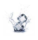 Ice cube. On white background Royalty Free Stock Images