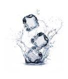 Ice cube. On white background stock image