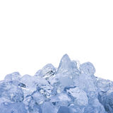 Ice Cube. On white background Royalty Free Stock Photos