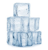Ice cube. On white background. Clipping Path Royalty Free Stock Image