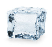 Ice cube. On a white background. Clipping Path Royalty Free Stock Image