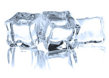 Ice cube. On white background cutout Stock Photo