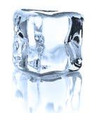 Ice cube. On white background cutout royalty free stock photo