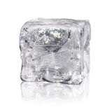 Ice cube before white background Stock Photo