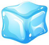 Ice cube on white. Illustration Stock Photos