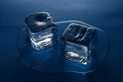 Ice cubes. Hot? use melting ice cubes Royalty Free Stock Images