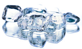 Ice cubes. HQ studio shot. Camera: Canon EOS 5D Mark II Stock Photos