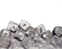 Ice cubes. Isolated on white background Stock Image