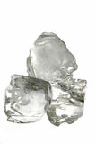 Ice Cubes. Isolated Royalty Free Stock Images