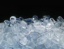 Ice cubes. On black background Stock Image