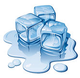 Ice cubes. Stylized ice cubes on white background. Vector illustration Stock Images