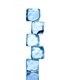 Ice cubes. Construction from ice cubes in blue light royalty free stock image