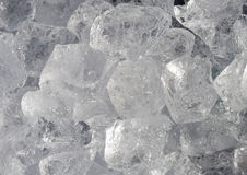 Ice-cubes. Pile of ice-cubes creating background Stock Photo