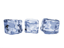 Ice cubes. Isolated on white background Royalty Free Stock Images