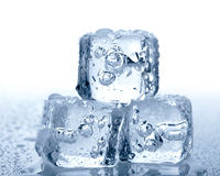 Ice cubes. On white background Royalty Free Stock Photos
