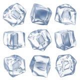 Ice cubes. Isolated on white background Royalty Free Stock Photo