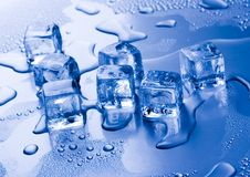Ice cubes. Ice can refer any of the 14 known solid phases of water. However, in non-scientific contexts, it usually describes ice Ih, which is the most abundant Stock Image