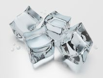Ice cubes stock illustration