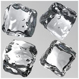 Ice cubes 3d render Royalty Free Stock Photography