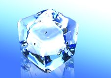 Ice cubes 3d render royalty free stock images