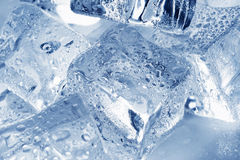 Ice Cubes. Colored ice cubes. Fresh style Stock Image