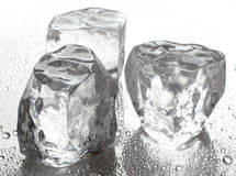 Ice cubes. Three ice cubes Royalty Free Stock Image