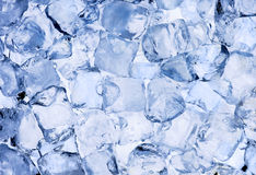 Ice cubes background Stock Photos