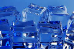 Ice cubes background royalty free stock photos