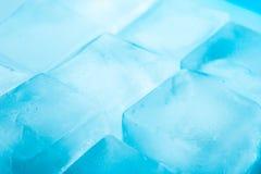 Ice cubes background horizontal Stock Images