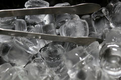 Ice cubes background metal Royalty Free Stock Photo