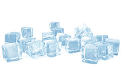 Ice cubes background, pile of blue ice cubes. 3d rendering. Ice cubes background, pile of blue ice cubes, 3d rendering stock illustration