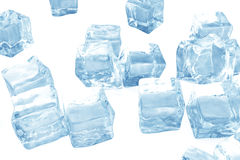 Ice cubes background, pile of blue ice cubes. 3d rendering. Ice cubes background, pile of blue ice cubes, 3d rendering Stock Photos