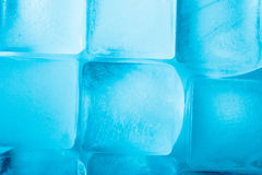 Ice cubes background top view Stock Photo