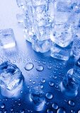 Ice cubes backgrounds Stock Photos