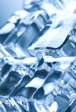 Ice cubes in blue ambient light Stock Image